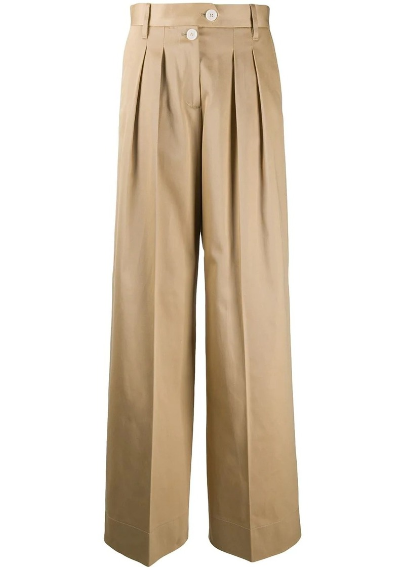 Tommy Hilfiger wide leg pleat detail trousers