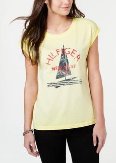 86a24e1aa888e Tommy Hilfiger Tommy Hilfiger Sport Cold-Shoulder Waffle-Knit Top ...