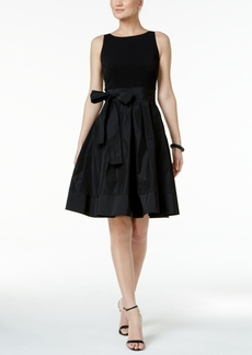 Tommy Hilfiger Sash Belted Fit & Flare Dress