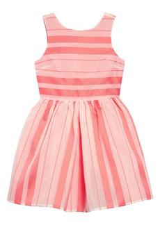 Tommy Hilfiger Satin Stripe Fit & Flare Dress (Big Girl)