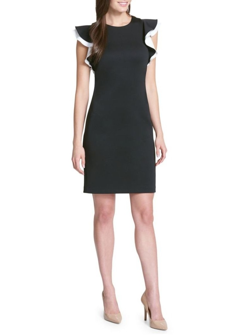 404cd614d Tommy Hilfiger Tommy Hilfiger Scuba Flutter-Sleeve Sheath Dress ...