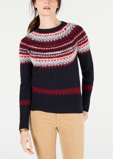 Tommy Hilfiger Sequin Fair Isle Sweater, Created for Macy's
