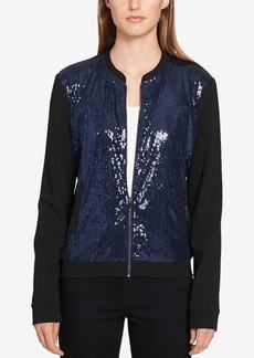 Tommy Hilfiger Sequin-Front Bomber Jacket, Created for Macy's