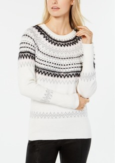 Tommy Hilfiger Sequined Fair Isle Sweater, Created for Macy's