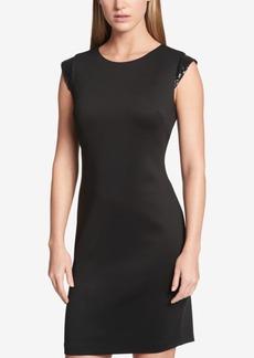 Tommy Hilfiger Sequined-Sleeve Sheath Dress