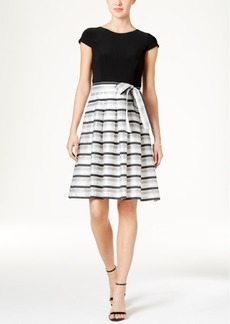 Tommy Hilfiger Shadow Stripe Fit & Flare Dress