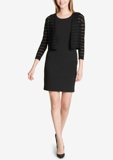 Tommy Hilfiger Shadow-Stripe Shrug