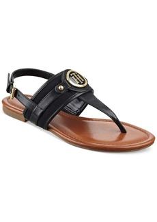 Tommy Hilfiger Shane Logo T-Strap Slingback Sandals Women's Shoes