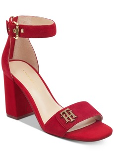 Tommy Hilfiger Sheerah Two-Piece Block-Heel Sandals Women's Shoes