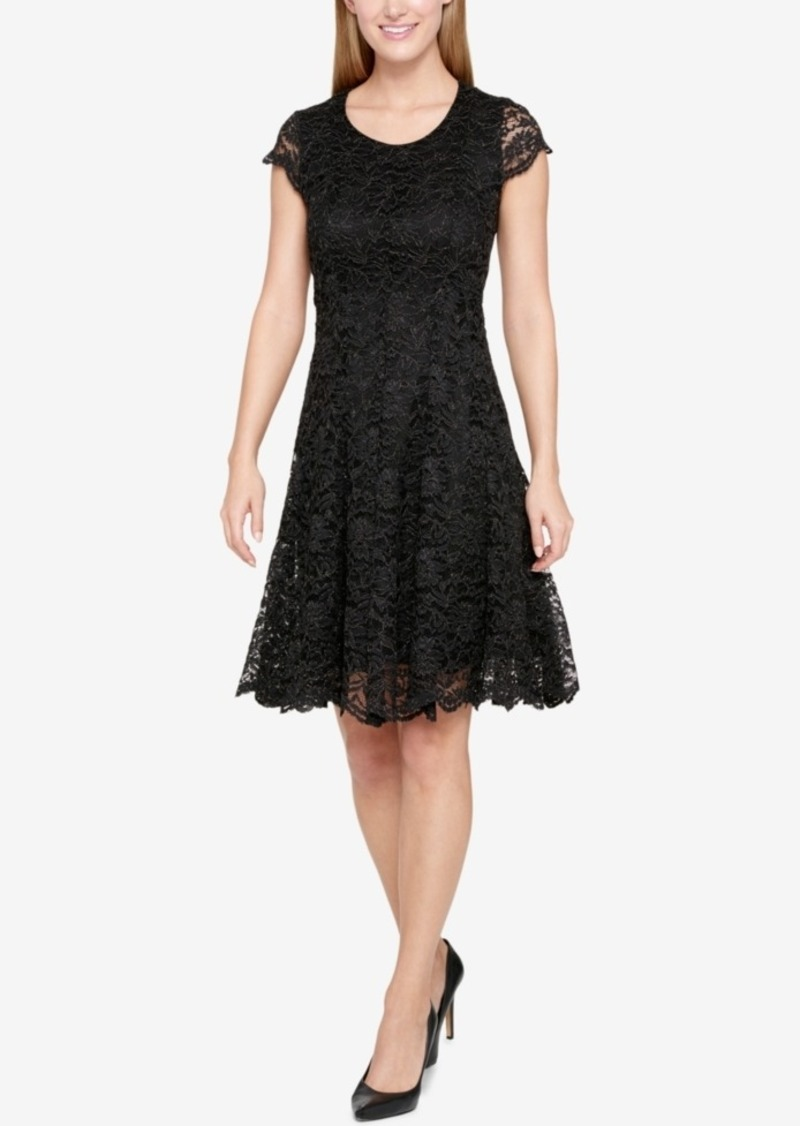 Tommy Hilfiger Shine Lace Fit & Flare Dress