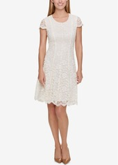 Tommy Hilfiger Shine Lace Fit & Flare Dress