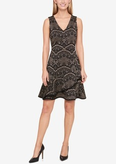 Tommy Hilfiger Shine Printed Ruffle Party Dress