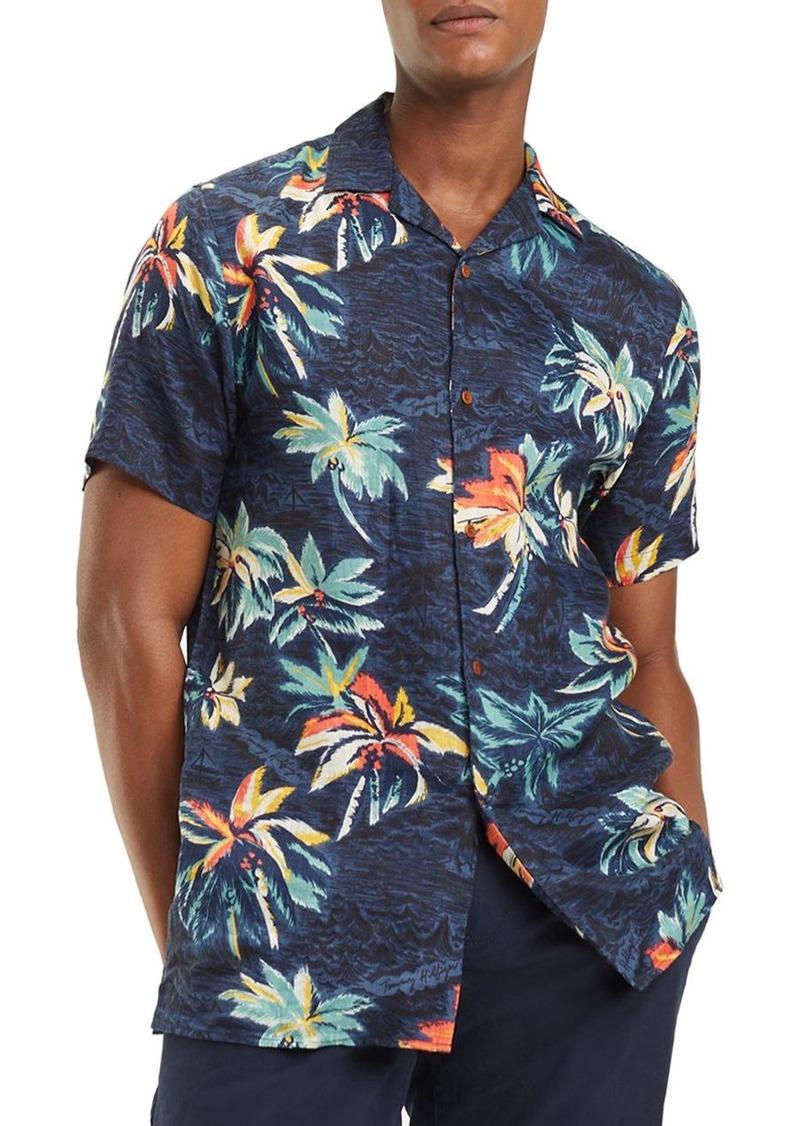 Tommy Hilfiger Short-Sleeve Hawaiian-Print Classic Fit Shirt