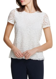 Tommy Hilfiger Short Sleeve Lace Top