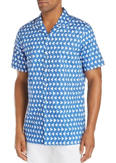 Tommy Hilfiger Short-Sleeve Triangle-Print Regular Fit Shirt