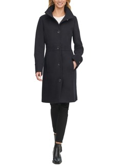Tommy Hilfiger Single-Breasted Stand-Collar Coat