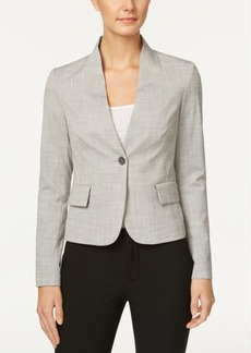 Tommy Hilfiger Single-Button Crosshatch Blazer