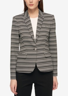Tommy Hilfiger Single-Button Striped Blazer