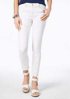 Tommy Hilfiger Skinny Embroidered Ankle Jeans