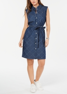 Tommy Hilfiger Sleeveless Cotton Button-Front Shirtdress