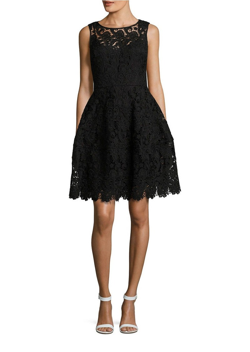 8c20487670d Tommy Hilfiger TOMMY HILFIGER Sleeveless Lace-Overlay Fit-and-Flare ...