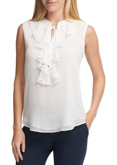 Tommy Hilfiger Sleeveless Ruffle Top