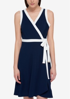 Tommy Hilfiger Sleeveless Wrap Dress, Only at Macy's