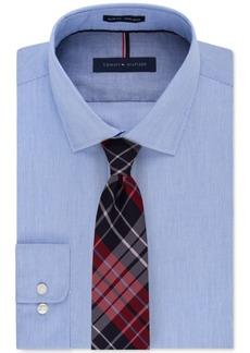 Tommy Hilfiger Slim-Fit Non-Iron Mist Stripe Dress Shirt