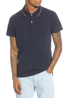 Tommy Hilfiger Slim Fit Tipped Heather Cotton Polo