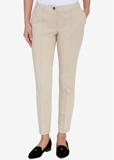 Tommy Hilfiger Slim-Leg Ponte-Knit Trousers, Created for Macy's