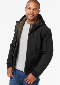 Tommy Hilfiger Soft-Shell Hooded Bomber Jacket with Bib