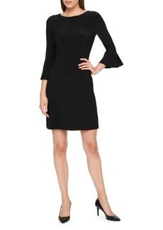 Tommy Hilfiger Solid Bell-Sleeve A-Line Dress