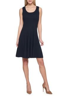 Tommy Hilfiger Solid Pique Fit-&-Flare Dress