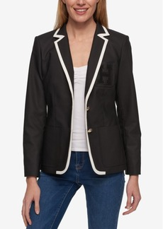 Tommy Hilfiger Spectator Colorblocked Blazer, Only at Macy's