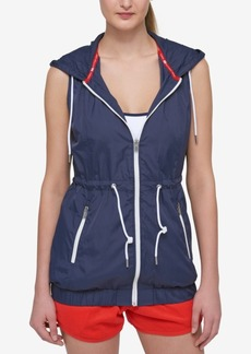 Tommy Hilfiger Sport Banded-Hem Hooded Vest, A Macy's Exclusive Style