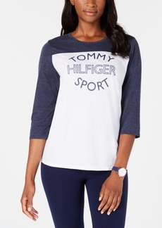 Tommy Hilfiger Sport Bi-Color Logo-Print T-Shirt, Created for Macy's