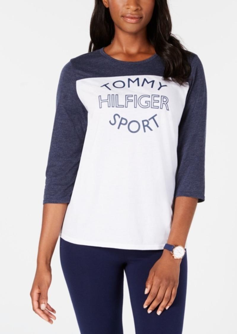 6ba788d8 Tommy Hilfiger Tommy Hilfiger Sport Bi-Color Logo-Print T-Shirt ...