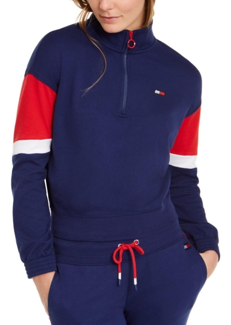 Tommy Hilfiger Sport Colorblocked Half-Zip Top