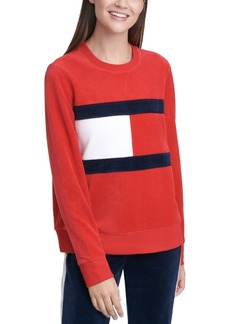 Tommy Hilfiger Sport Colorblocked Velour Sweatshirt