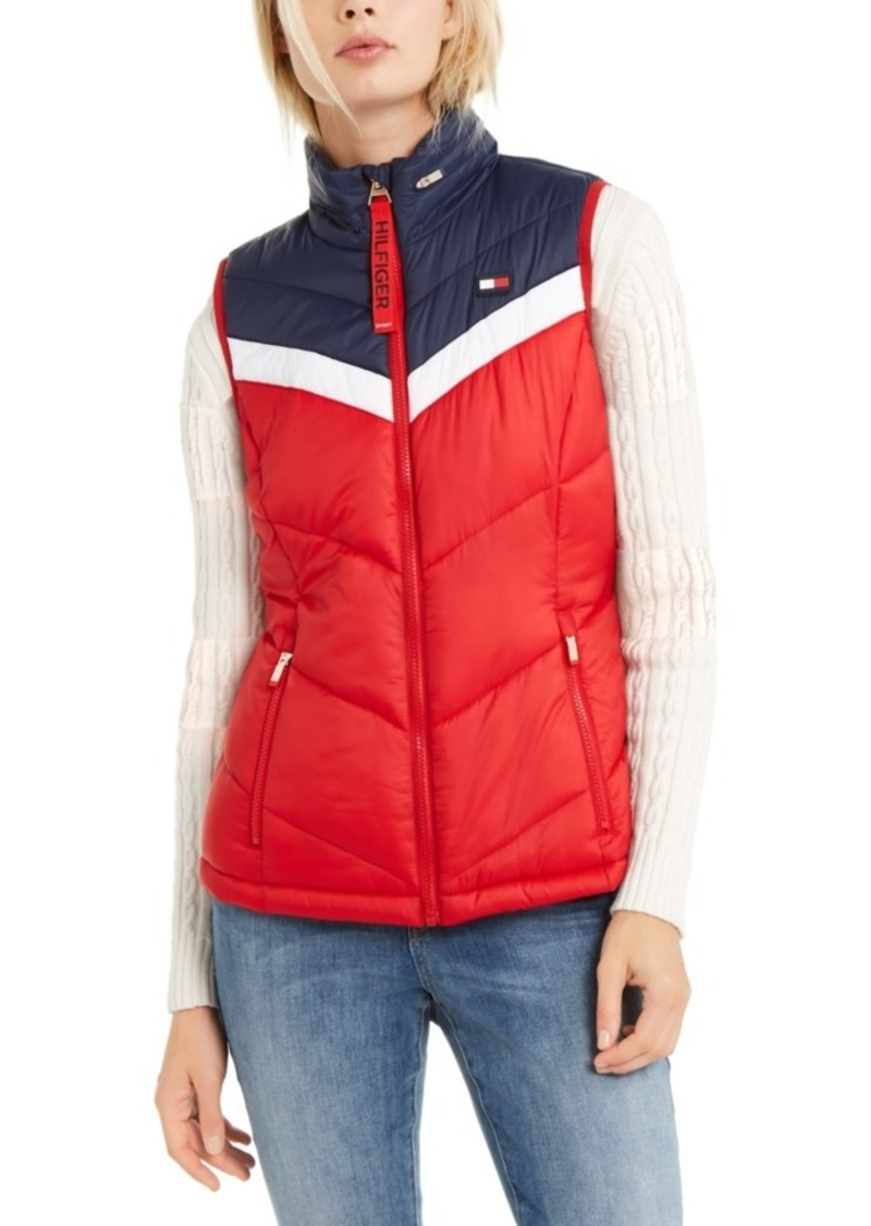 Tommy Hilfiger Sport Colorblocked Zip-Up Puffer Vest