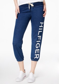 Tommy Hilfiger Sport Cotton Cropped Logo Sweatpants, A Macy's Exclusive