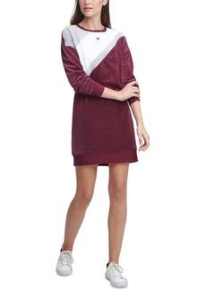 Tommy Hilfiger Sport Dropped-Shoulder Colorblocked Crewneck Sweater Dress
