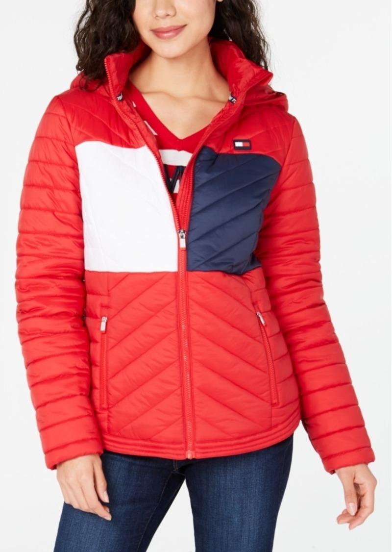 Tommy Hilfiger Sport Flag Hooded Puffer Jacket