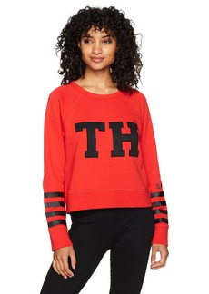 Tommy Hilfiger Sport Junior's Terry Striped L/S Raglan Logo Sweatshirt  MEDIUM