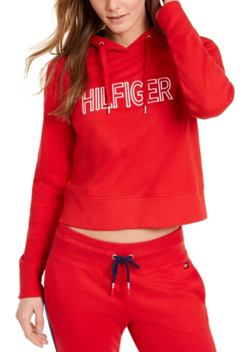 Tommy Hilfiger Sport Logo Cropped Hoodie