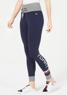 Tommy Hilfiger Sport Logo Drawstring-Waist Leggings