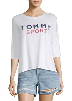 Tommy Hilfiger Logo Three-Quarter Top