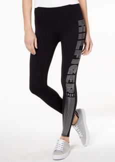 Tommy Hilfiger Sport Metallic Logo Active Leggings, a Macy's Exclusive Style