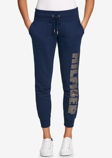 Tommy Hilfiger Sport Metallic Logo-Print Jogger Pants, a Macy's Exclusive Style