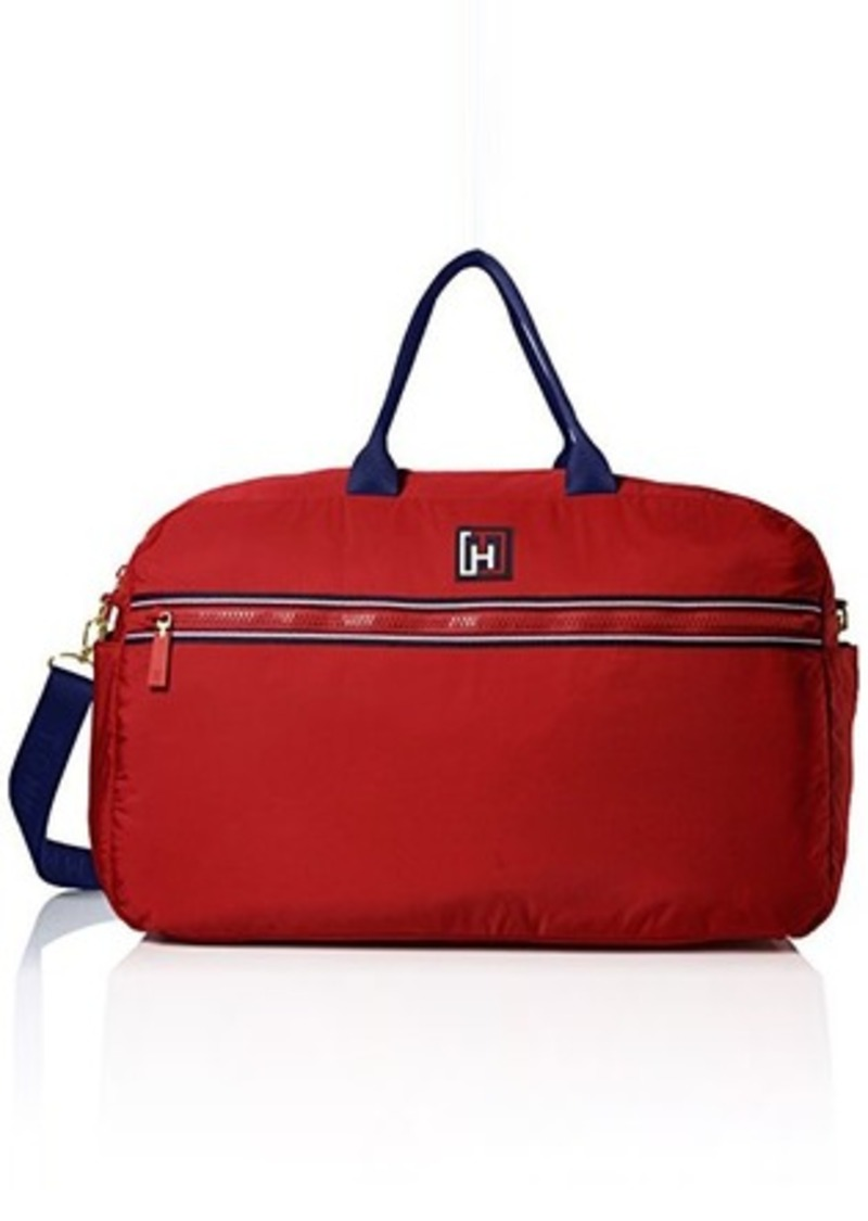tommy hilfiger tommy hilfiger sport nylon weekender bag red one size handbags shop it to me. Black Bedroom Furniture Sets. Home Design Ideas